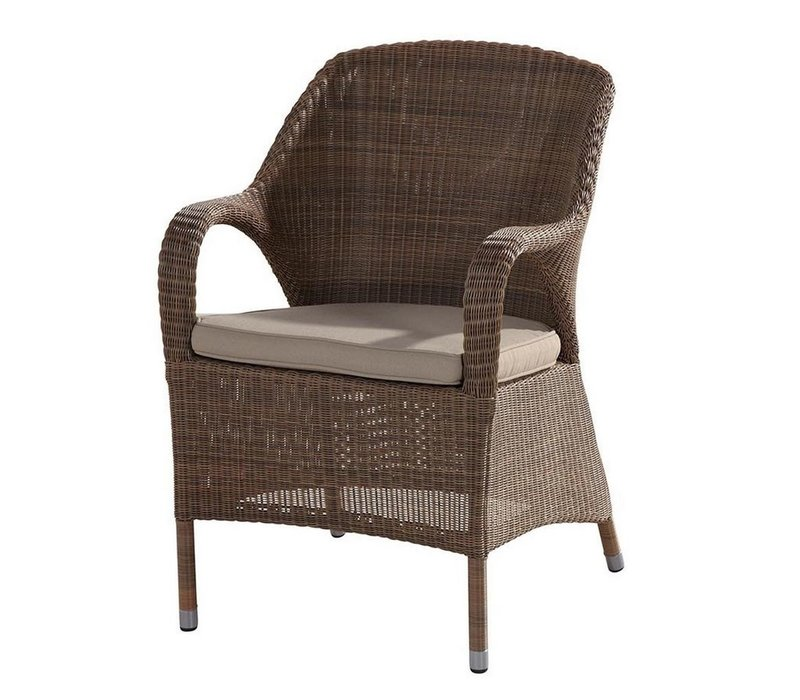 Sussex dining chair in polyloom taupe