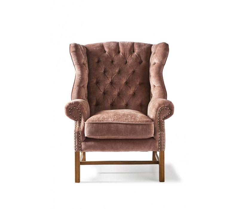 Franklin Park Wing Chair Velv Plum