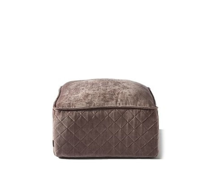 Huntington Pouf Velvet Plum
