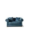 Homestore Crescent Avenue Sofa 2s Velv Indigo