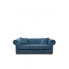 Homestore Crescent Avenue Sofa 3s Vel Indigo
