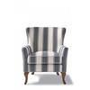 Homestore Cavendish Armchair, Blue Stripe