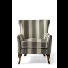 Homestore Cavendish Armchair, Grey Stripe