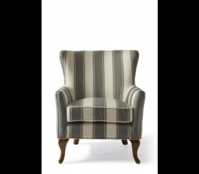Cavendish Armchair, Grey Stripe