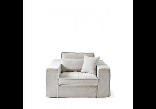 Homestore Metropolis Love Seat Cotton White