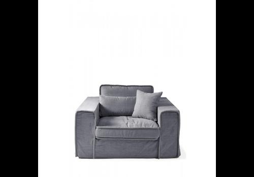 Homestore Metropolis Love Seat Cotton Grey