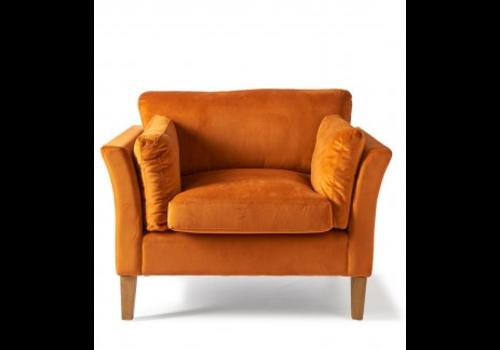 Homestore Forsyth Love Seat Velvet Pumpkin