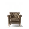 Homestore Paramount Armchair Velvet Olive