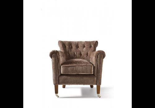 Homestore Paramount Armchair Velvet Brown