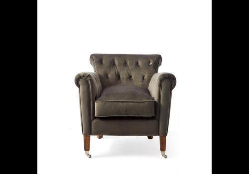 Homestore Paramount Armchair Velvet Slate Gre