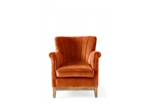 Homestore East Village Armchair Velv Pumpkin