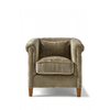 Homestore Cutler Park Club Chair Velvet Olive
