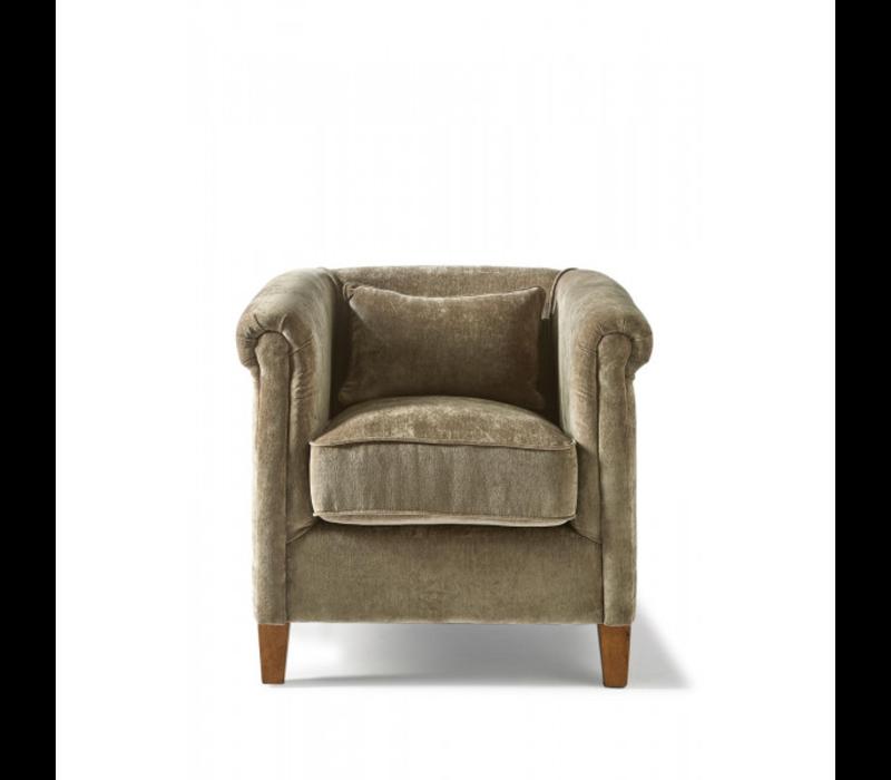 Cutler Park Club Chair Velvet Olive