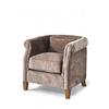 Homestore Cutler Park Club Chair Velvet Plum