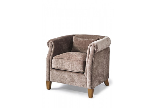 Homestore Cutler Park Club Chair Velvet Plum