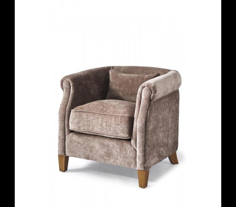 Cutler Park Club Chair Velvet Plum