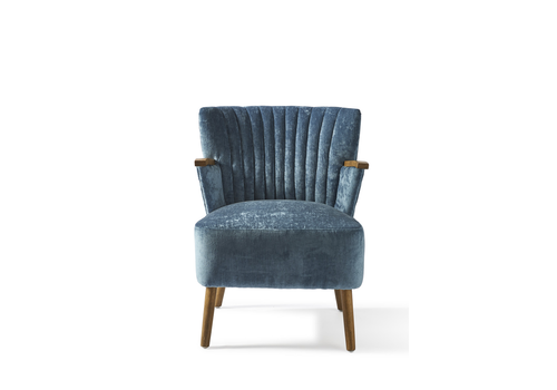 Homestore Pebble Beach Armchair Velvet Indigo
