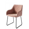 Homestore Frisco Drive Dining Armc Vel Pink