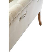 Keith II Lowback Arm Bench lin Flax
