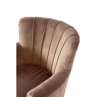East Village Armchair Velv Caramel