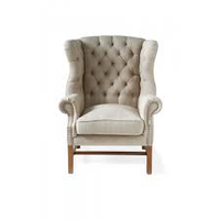 Franklin Park Wing Chair Linen Flax