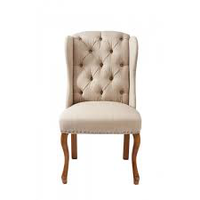 Keith II Dining Wing Chair lin Flax
