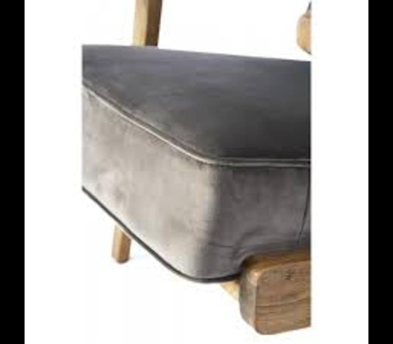 Palmo Armchair Velv. Slate Grey