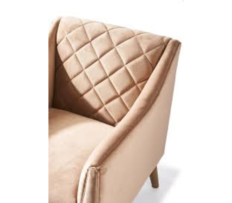 Contessa Armchair Velvet Blush