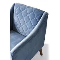 Contessa  Armchair Velvet IceBlue