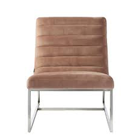 Thompson Lounge Chair Vel Blush