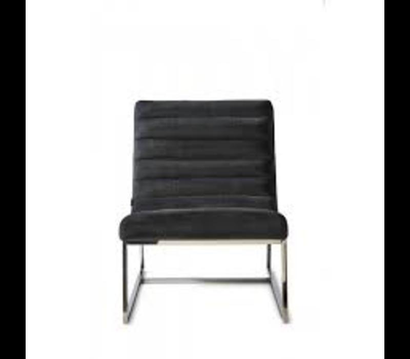 Thompson Lounge Chair Vel Midn Grey