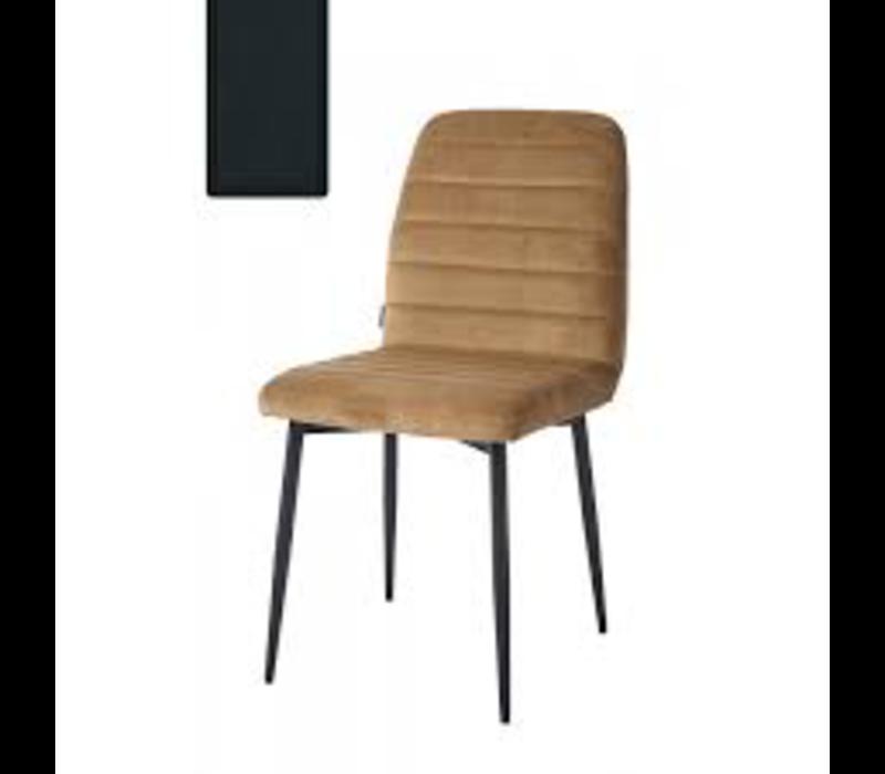 Rockefeller Dining Chair Vel MidnGr