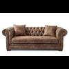 Homestore Crescent Avenue Sofa 3s Pel Camel
