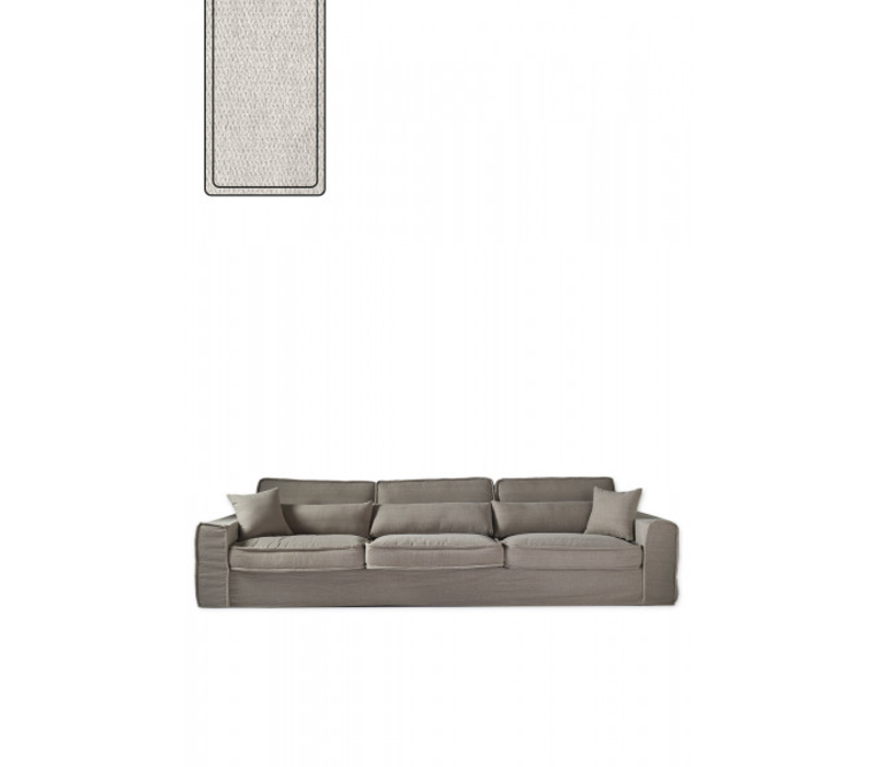 Metropolis Sofa XL Velvet Pearl