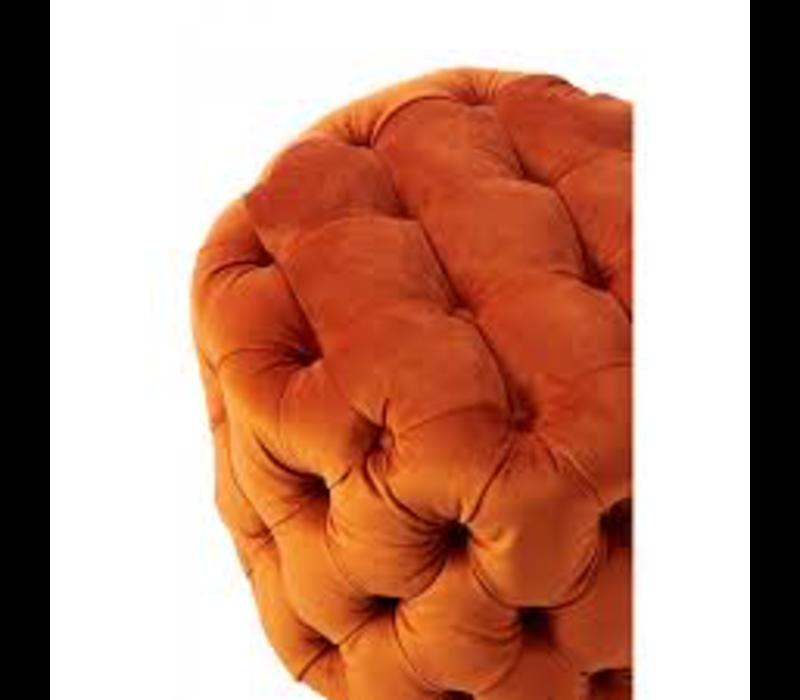 Opera Footstool Velvet Pumpkin