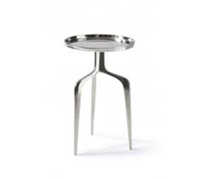 Faubourg End Table nickel 35 cm dia