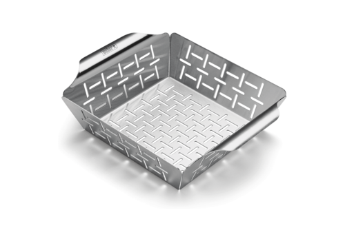 Weber DELUXE GRILLING BASKET - SMALL, STAINLESS STEEL WITH HIGH SIDES