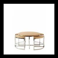 Monaco Round Coffee Table S/5