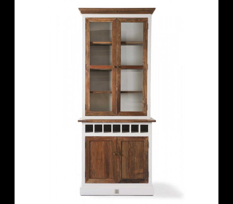 Driftwood Cabinet w winerack Sgl