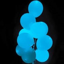 Lichtblauwe Led Ballonnen 30cm 5 stuks