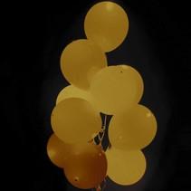 Gouden Led Ballonnen 30cm 5 stuks (C10-7-3)