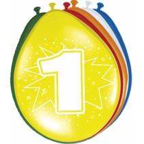 Ballonnen 1 Jaar 30cm 8 stuks