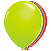 Neon Ballonnen 25cm 8 stuks (B13-4-3)