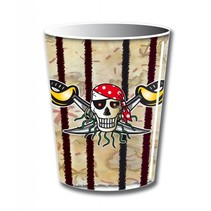 Piraten Bekers 250ml 8 stuks