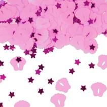 Tafelconfetti Voetjes Roze 1cm 600 stuks (C4-6-7)