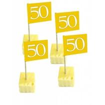 Vlagprikkers 50 jaar goud 50 stuks