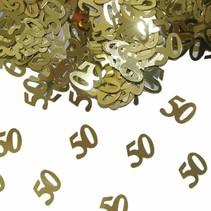 Tafelconfetti 50 Jaar Goud 1cm 600 stuks (C7-2-5)