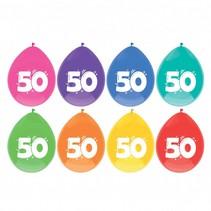 Ballonnen 50 jaar Party 30cm 8 stuks (C7-4-7)