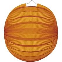 Oranje Lampion Bol 23cm (I17-4-3)