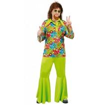 Hippie Kostuum Groen M/L (N1-2-7)